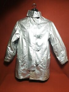 Vntg Jacket Firefighter Janesville Size 42 Aluminized Turnout Bunker Fire Gear B