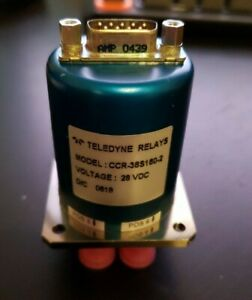 Teledyne Relays Coax Switch Sp6t Ccr 38s160 2 24 30vdc D sub 9 pin