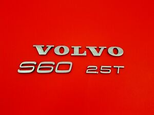 2001 2006 Volvo S60 2 5t Rear Trunk Lid Emblem Badge Symbol Logo Sign Set Oem 07
