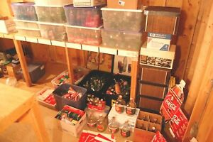 Coca Cola 450+ glass bottle, 250+ cardboard carriers, signs, ads, toppers Lot +