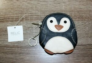 New Relic by Fossil Black and White Faux Leather Penguin Coin Purse $23.00