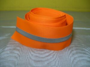 9 1 2 Feet New Sew On Reflective Fabric Strip Tape Orange Grey 2 1 2 Wide