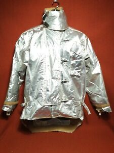 Morning Pride Aluminized Large Fire Fighting Jacket Coat Size 46 35l a
