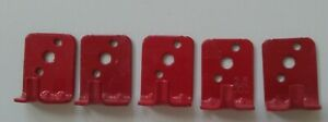 New Lot Of 5 universal Wall Mount 5 Fire Extinguisher Bracket hook Red