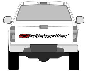 Chevrolet Silverado S10 Tahoe Sticker Window Bed Tailgate Vinyl Decal Chevy Hd