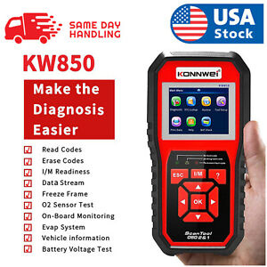 Kw850 Obd2 Eobd Can Auto Diagnostic Scanner Car Fault Code Reader Tester Tool