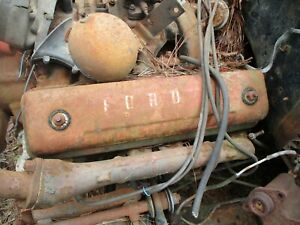 54 Ford 239 Y Block Valve Covers Pair 1954