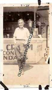 1920's Coca Cola Old Photo Diner Cafe Soda Fountain Woman in Chaps Los Angeles