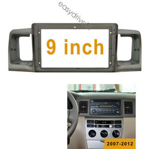9 Inch Car Radio Fascia Panel For Toyota Corolla Ex 2007 2012 Dashboard Frame
