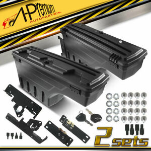 2pcs Left Right Side Truck Bed Storage Box Toolbox For Toyota Tacoma 2005 2020