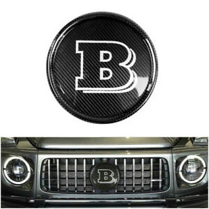 Mercedes benz G 63 Wagon W463a Brabus Style Carbon Fiber Front Grille Badge Grey
