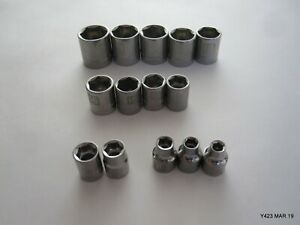 Lot Of 14 Craftsman Oem 6 point Metric Sockets 3 8 Drive