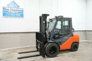 2013 Toyota 8fgu30 6 000 Pneumatic Tire Forklift Dual Drives Lp Gas S s