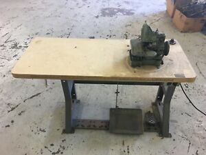 Hoffman Brothers Karpet King Industrial Sewing Machine Motor And Stand Runs