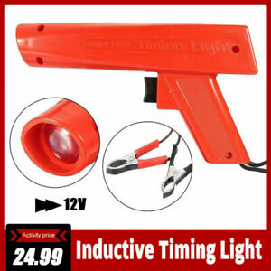 Engine Timing Light Gun Xenon Induction Ignition Spark Checker Car Motorcycle Us