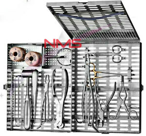 Veterinary Orthopedic Set Contains 19 Instruments A Storage Cassette