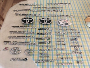 Lot Of 47 Authentic Toyota Emblems Badges Cars Trucks Suvs Good Shape Oem