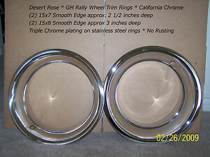 Corvette 15x7 15x8 Rally Beauty 15 Trim Rings Pair 15 X 7 15 X 8 Four Rings