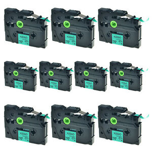 10x Tz721 Tze721 Black On Green Label Tape For Brother P touch Pt 2470 9