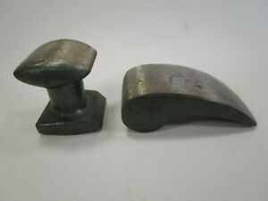 Vintage Auto Body Metal Working Comma Dolly Anvil Pair