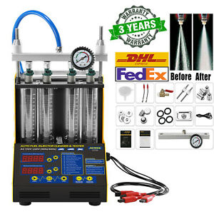 Auto Ultrasonic Fuel Injector Cleaner Cleaning Teater Machine For Car Motorcyle