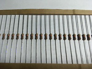 1 4 Watt 5 Tolerance Carbon Film Resistor Multiple Values 50 100 1000 Pieces