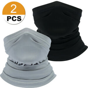 2 Pcs Moisture Wicking Face Scarf Tactical Cover Sport Neck Face Cover US FAST $9.99