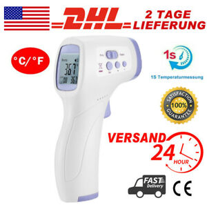 No Touch Infrared Digital Forehead Thermometer Baby Adult Body Temperature Gun F