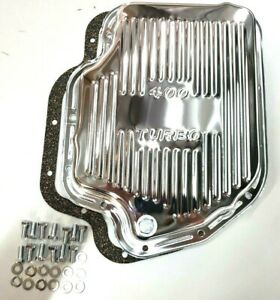 Chevy Shallow Gm Th 400 Turbo 400 Chrome Transmission Pan W Bolts Gasket