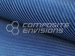 Blue Fabric Made With Kevlar 2x2 Twill Weave 50 6 2oz 210gsm