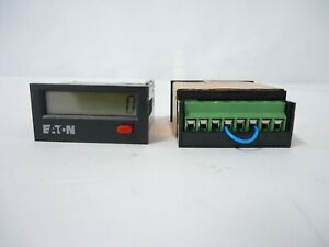 Lot Of 2 Eaton E5 024 c0400 8 Digit Lcd Totalizer 12000 Counts Per Second Great