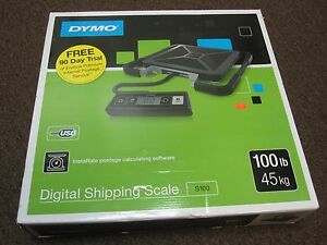 New Dymo Digital Shipping Scale S100 100 Lb 45 Kg Postage Calculating Software