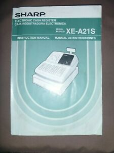 Instruction Manual For Sharp Programmable Cash Register Xe a21s
