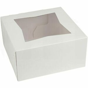 Beautiful White Bakery Box Keep Donuts Cookies Muffins Safe Unique Auto Popup