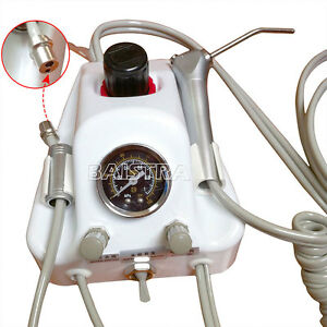 Dental Portable Turbine Unit Air Compressor Control System Triplex Syringe