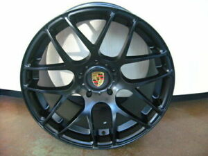 19 Inch Porsche Ruger Forged Boxster Cayman 986 987 981 Matte Black 5x130 Lugs