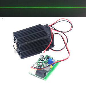 Focusable 532nm 80mw Green Laser Diode Line Module 12v W ttl driver Fan Cooling