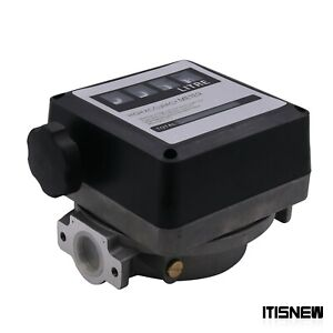 4 Digital Gasoline Petrol 20 120l min For Diesel Fuel Oil Flow Meter Counter Us