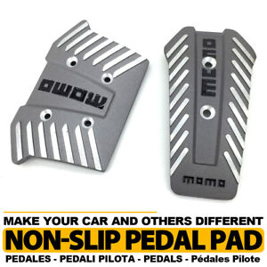 Silver Universal At Transmission Racing Sports Truck Car Non slip Pedals Pad