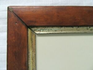 Antique Fit 5 75 X 7 Birds Eye Maple Picture Frame Lemon Gold Miniature Country