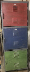 Antique Industrial Employee Locker Unit General Steel Products Corp New York