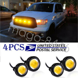 Ford Raptor Svt Style Led Amber Grille Mark Light For Chevy Colorado Silverado