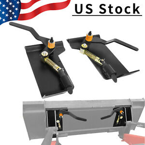 Weld on Skid Steer Quick Attach Bucket Conversion Adapter Latch Plates Universal