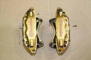 Jdm 2004 2007 Subaru Wrx Sti Turbo Front Brembo Brake Calipers 4 Pot Pistons