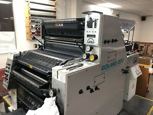 Man Roland 202 Two Color 20 X 29 Printing Press In Beautiful Condition