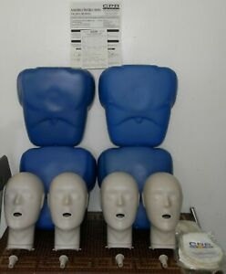 4x Cpr Prompt Training Emt Adult Child Manikins Mannequins 180 Lung Bags Bag