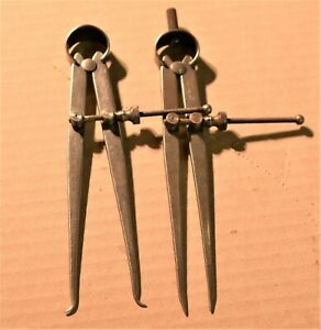 Vintage The L s Starrett Divider Sprint Calipers Set 6 5 Opening 5 4s1