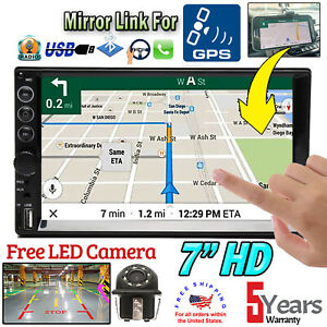 Car 2 Din Stereo Radio Bt Mirror Link For Gps camera Fit Audi A3 A4 A5 A6 A7 A8
