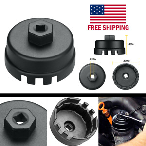 Oil Filter Cap Wrench Cup Socket Remover Tool For Toyota Lexus 64 5mm 14 Flutes