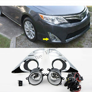 Pair Fog Lights For 2012 2013 2014 Toyota Camry L Le Xle Bumper Driving Lamps